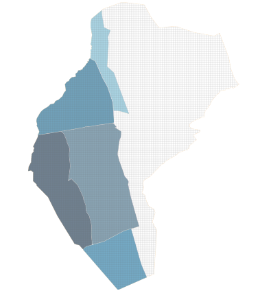 Kaart van de maaiwerken in Peer